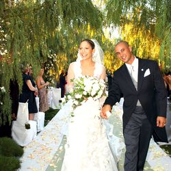 Before Casper Smart came Cris Judd, the backup dancer J.Lo wedded in a Valentino lace gown on September 29th, 2001. This marked marriage number two (of three) for the singer.