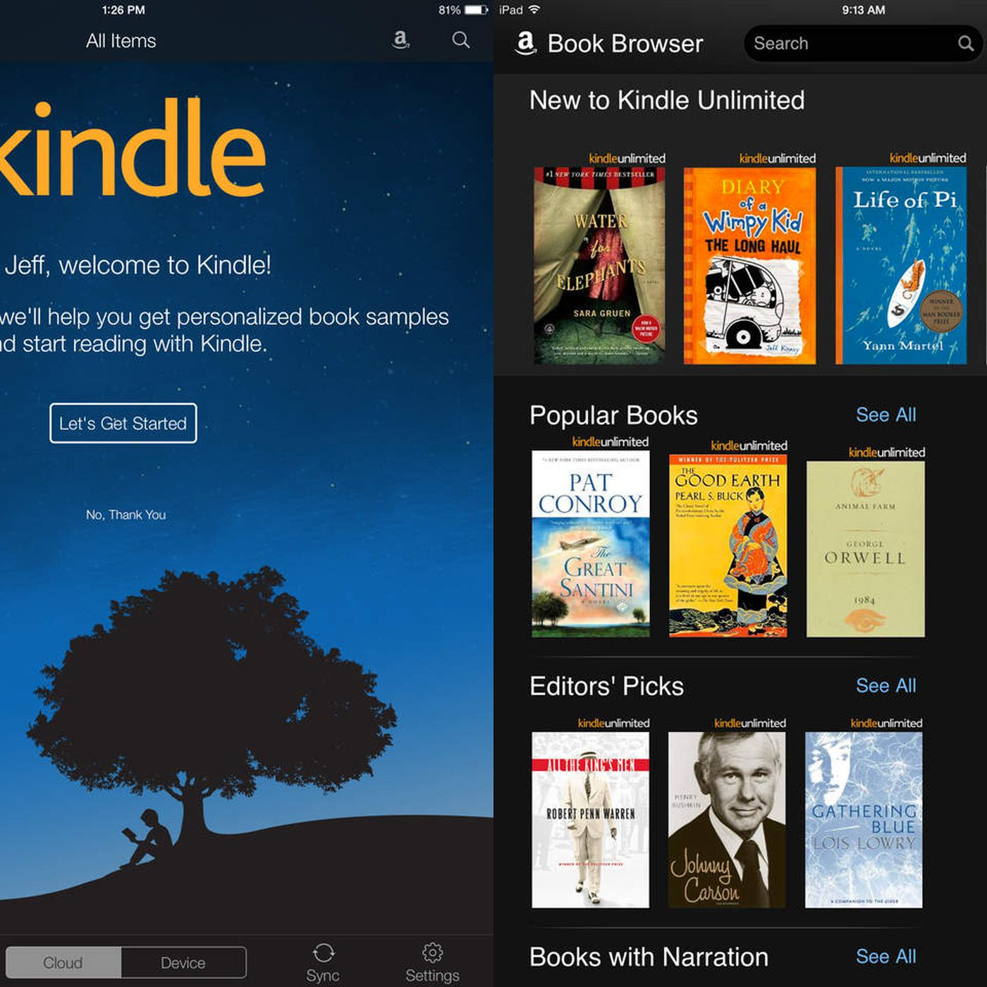 Amazon's Kindle iOS app adds Goodreads and Kindle Unlimited