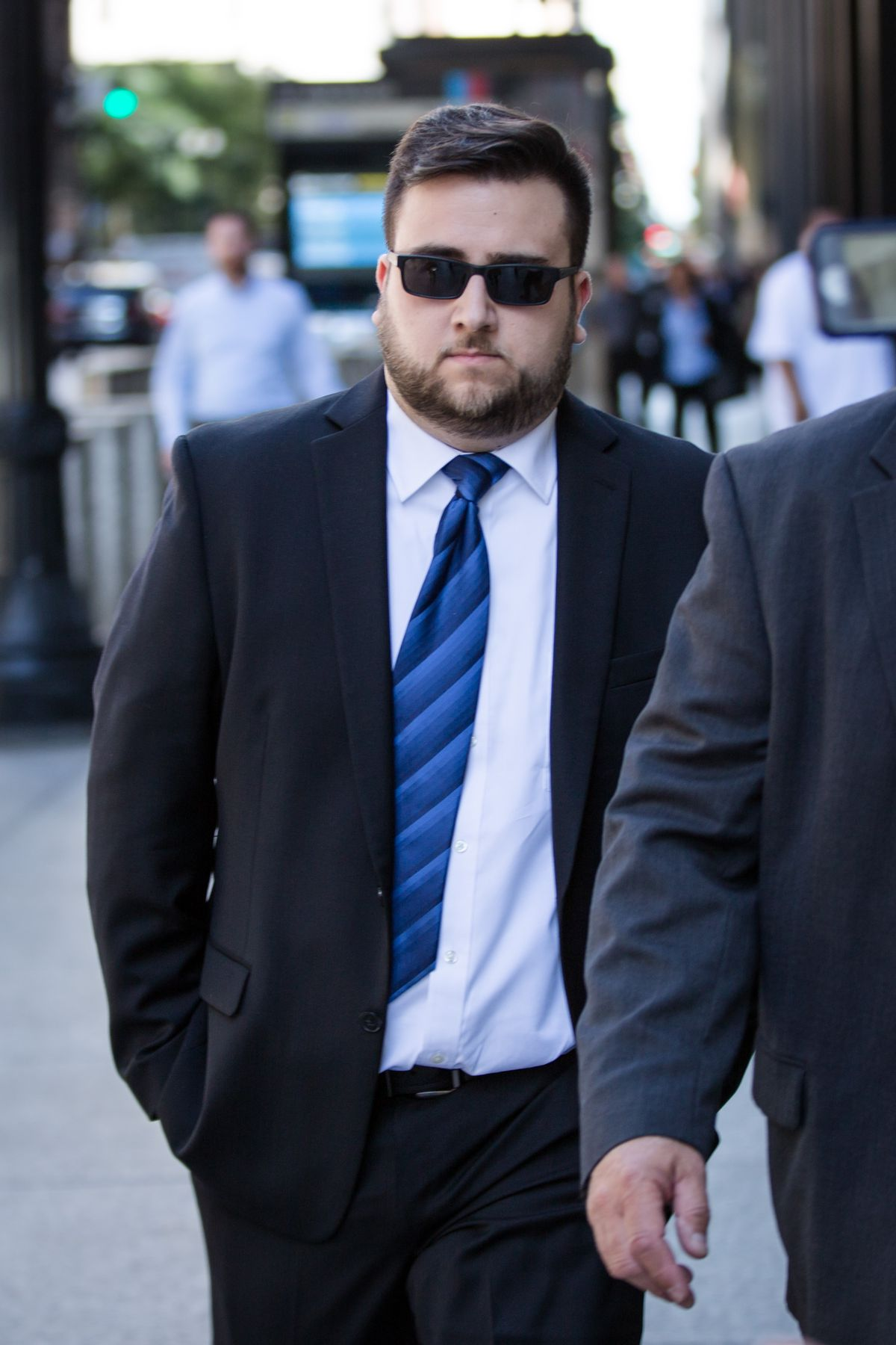 Edward J. Majerczyk leaves the Dirksen Federal Courthouse after pleading guilty on Tuesday.   Santiago Covarrubias/Sun-Times