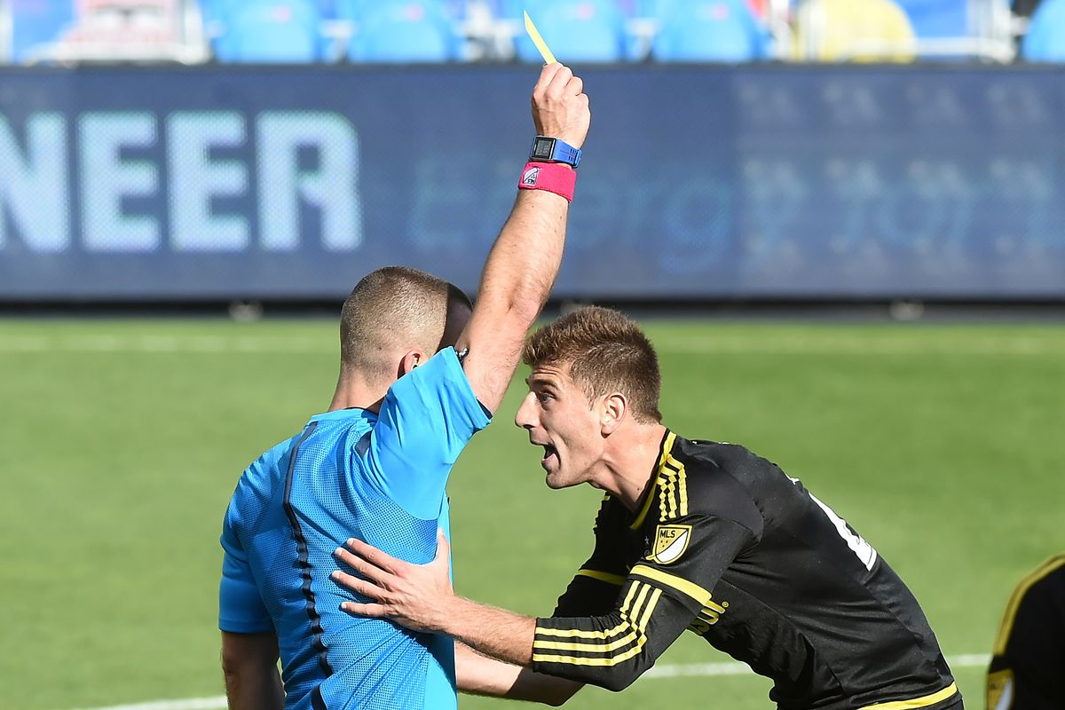 Today I Learned That: Attempted side massages do NOT prevent yellow cards