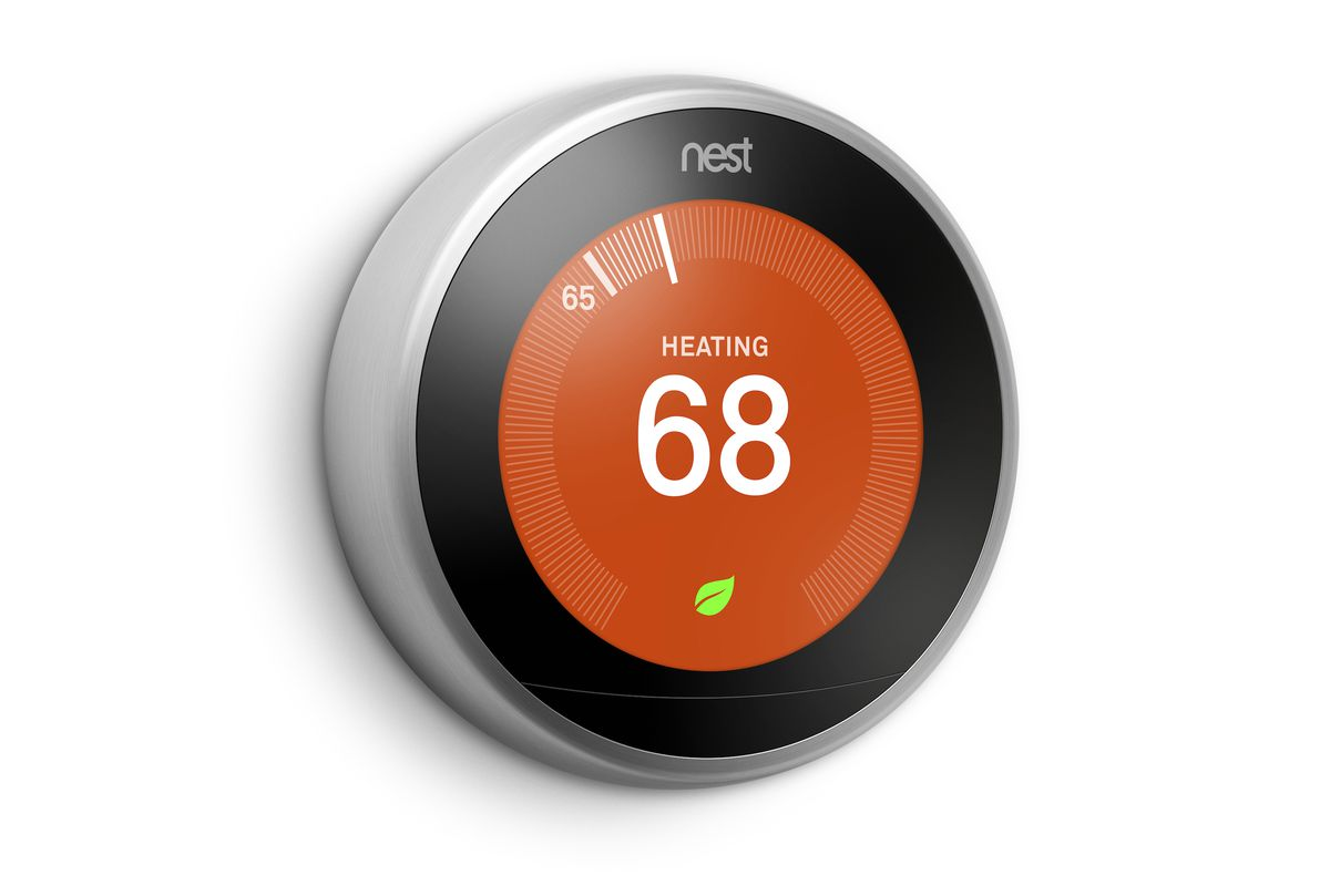 nest 39 s new thermostat has a bigger and better display the verge. Black Bedroom Furniture Sets. Home Design Ideas