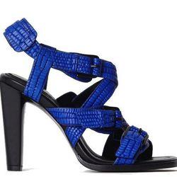 "<b>3.1 Phillip Lim</b> Ada-Heel Sandal, <a href=""http://31philliplim.com/shop/womens/footwear/794/color/153"">$575</a>"