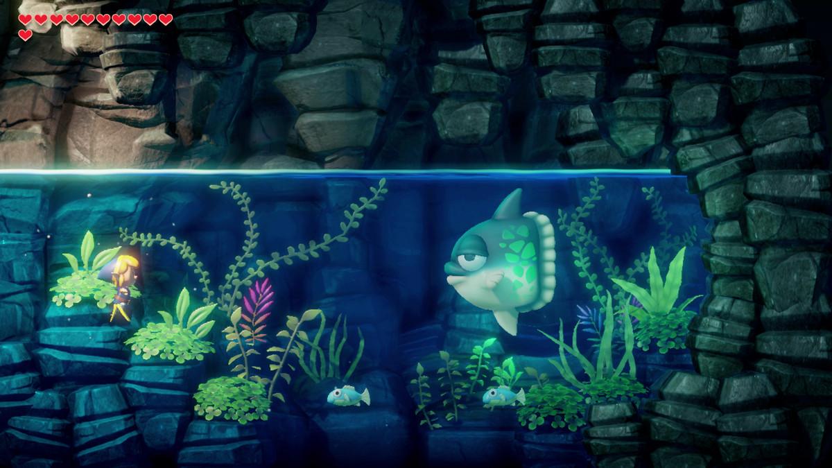 Link's Awakening Angler's Tunnel talk to Manbo