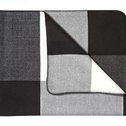 Throw Blanket in Black/White Plaid, $35