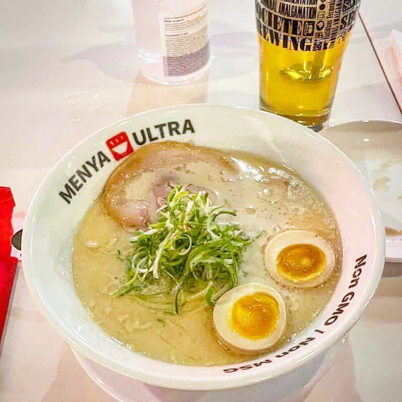 Bowl of ramen with soft egg