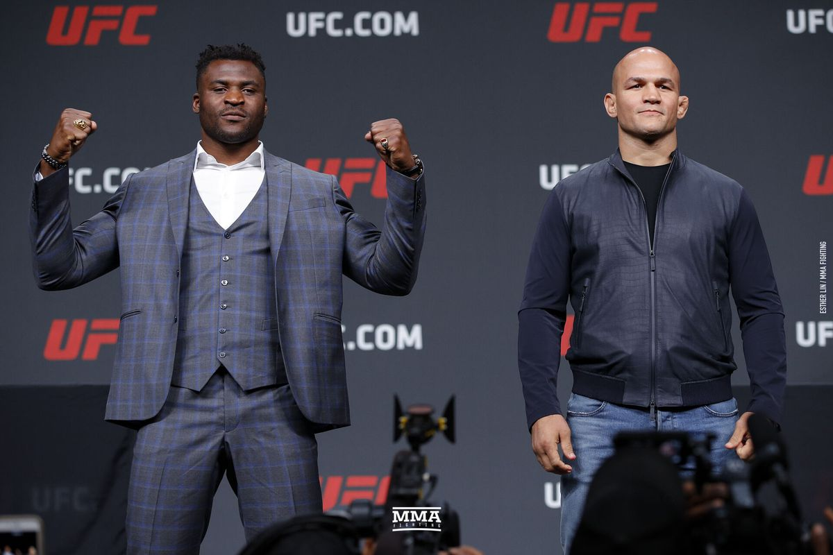 Junior dos Santos vs. Francis Ngannou moved from UFC 239 to UFC Minneapolis main event