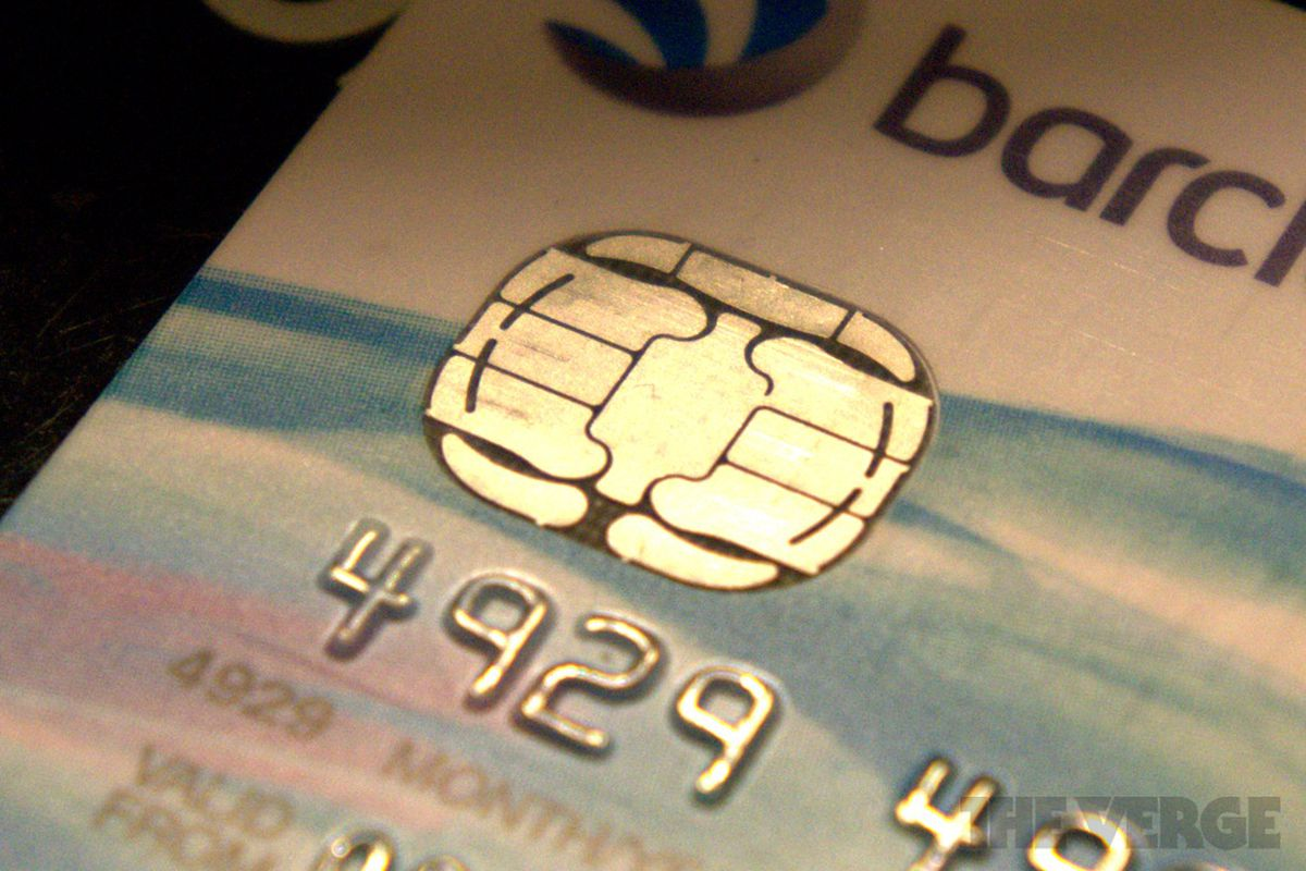 chip and pin credit card stock 1020