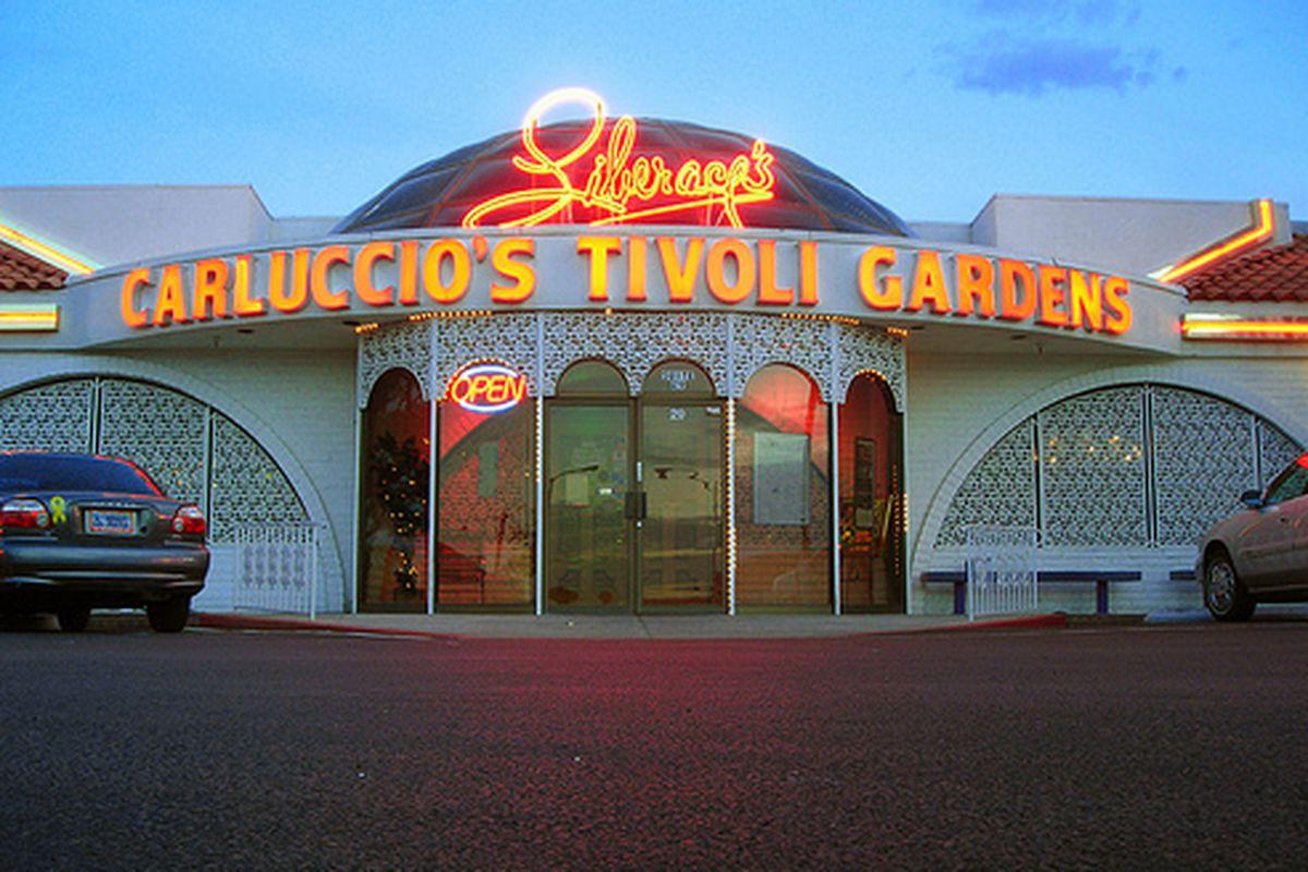 The original Carluccio's Tivoli Garden on Tropicana, now Carluccio's Italian Restaurant on Eastern.
