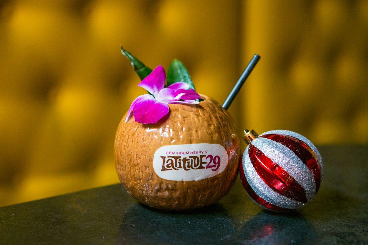 A cocktail from Sippin' Santa at Nickel City