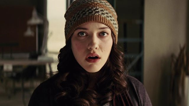 kat dennings as darcy in thor the dark world gasping like she just found out she was in thor the dark world
