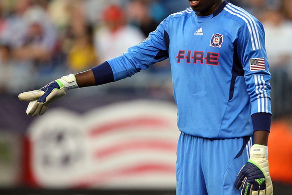 The USMNT is Sean Johnson's house!!  (Photo by Gail Oskin/Getty Images)