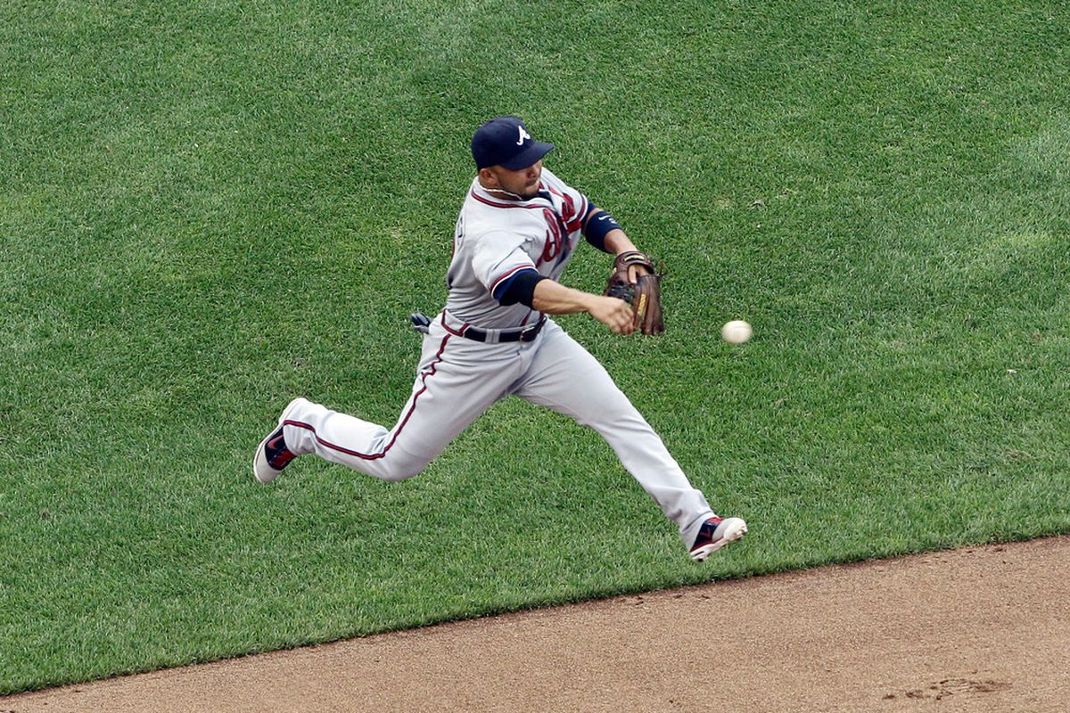 If Alex Gonzalez returns to the Braves it will be because of his glove, not his bat.  (Photo by Rob Carr/Getty Images)