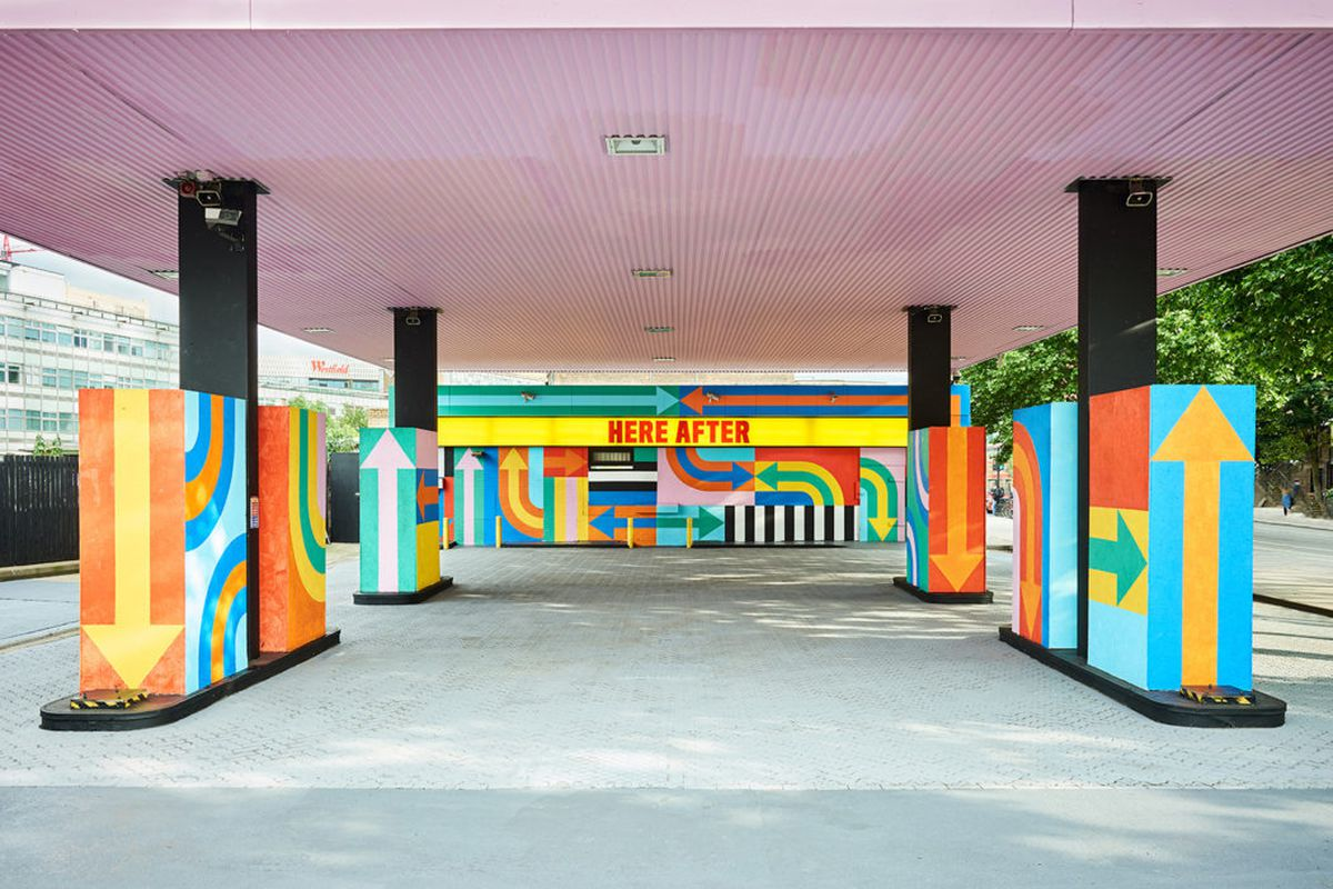 London gas station gets vibrant instagrammable makeover for Cleveland gas station mural
