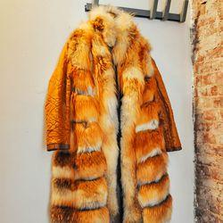 Reversible red fox coat
