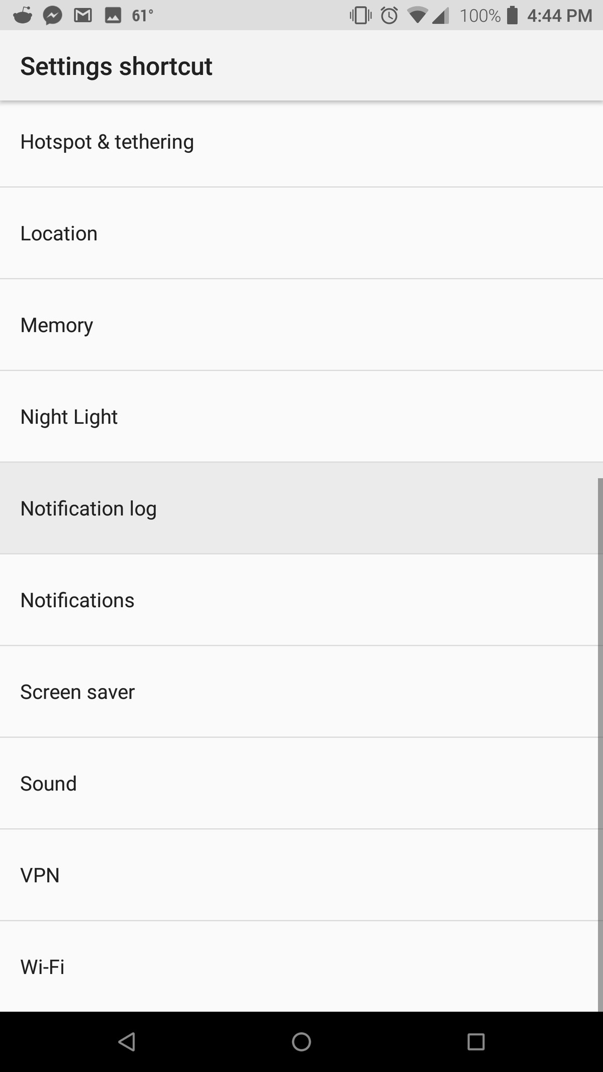 clear app history android