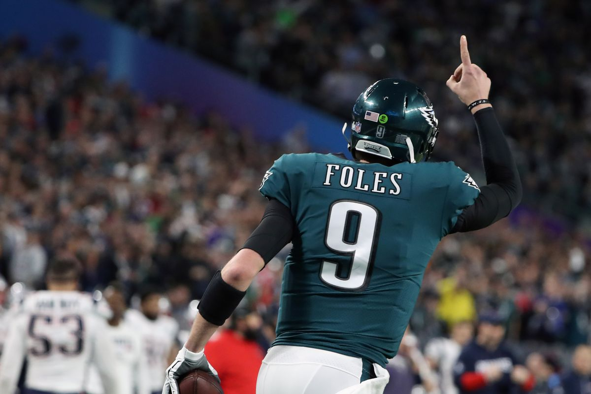 free shipping f685f c6409 All 43 of Nick Foles' passes and his 1 catch in Super Bowl ...