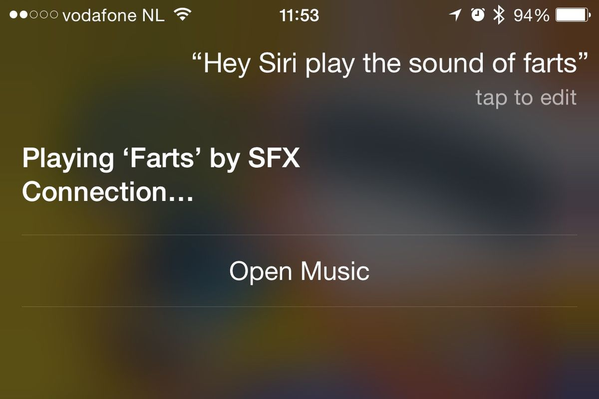 Use Siri to turn your iPhone into a rude little sound effects