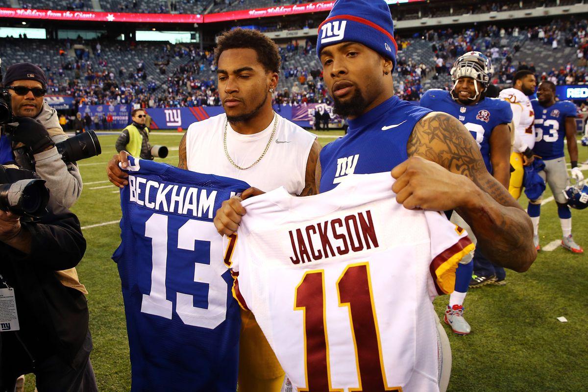 Odell Beckham and DeSean Jackson exchange jerseys following Sunday's game