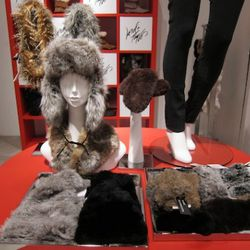Faux and knit rabbit fur accessories