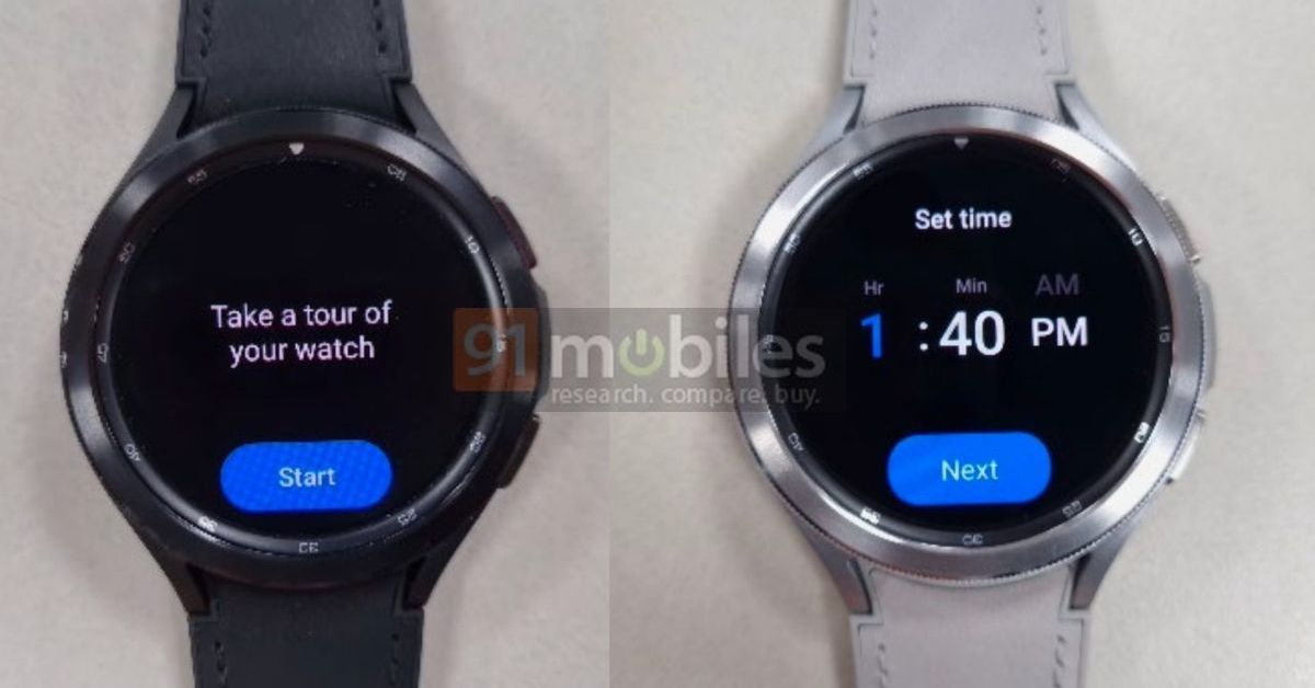Leaked Galaxy Watch photos show Samsung and Google's new smartwatch OS on an actual device