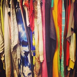"""<a href=""""http://www.foundsomerville.com/index.html"""">Found</a> (255 Elm Street) is a high end counterpart to the also-popular secondhand shop Buffalo Exchange across the street. Items move quickly so act quick when you find a treasure, whether it be a Celi"""