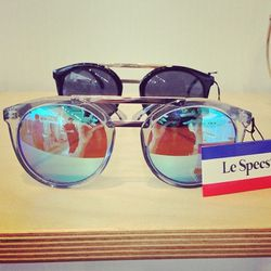 """Iridescent excellence by Australia's <a href=""""http://lespecs.com/""""target=""""_blank"""">Le Specs</a>."""