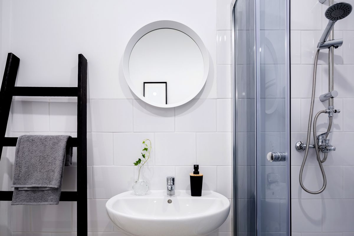 how to plan your space for a small bathroom remodel - this