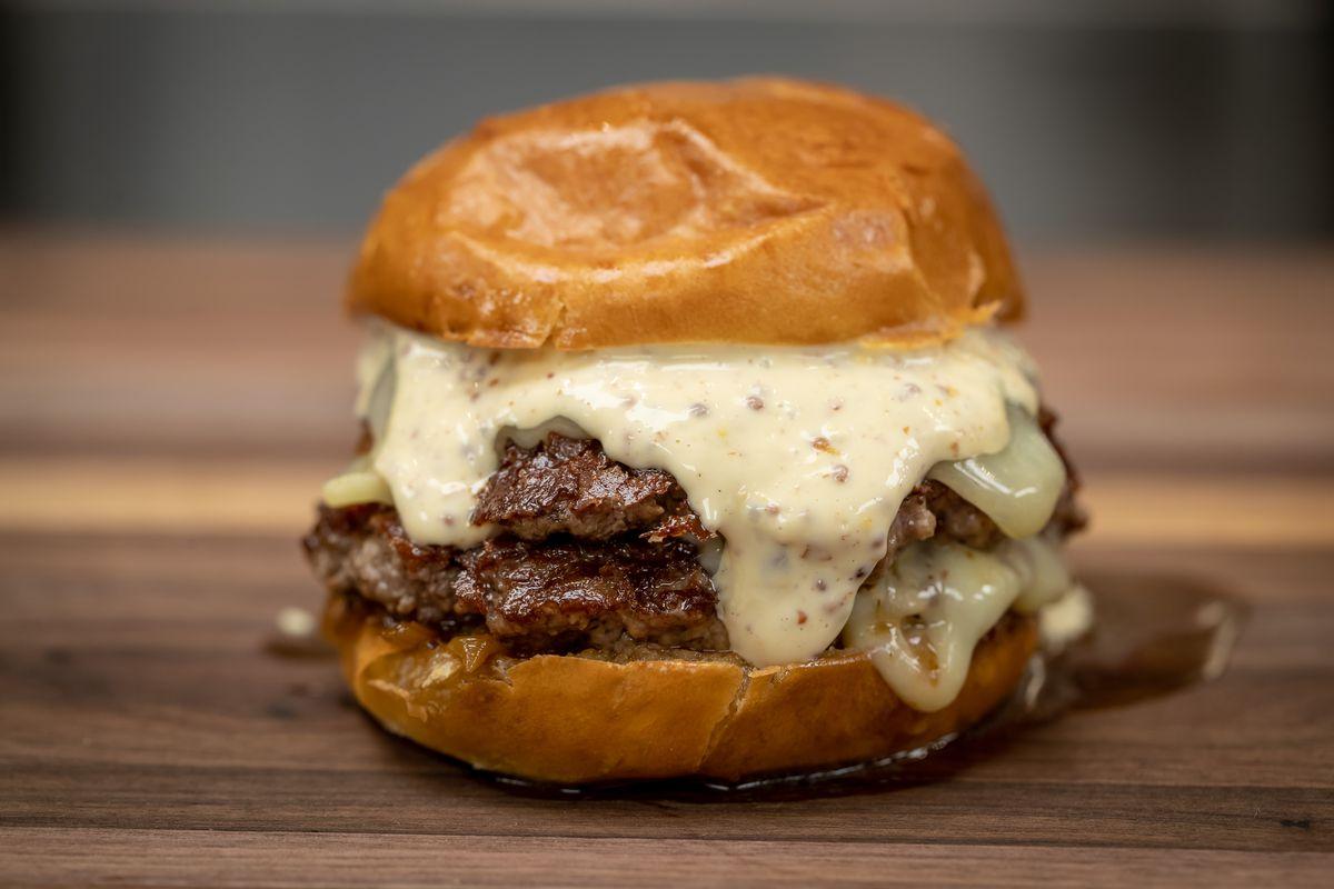 Shake Shack Innovation Kitchen Montlake Double Cut burger