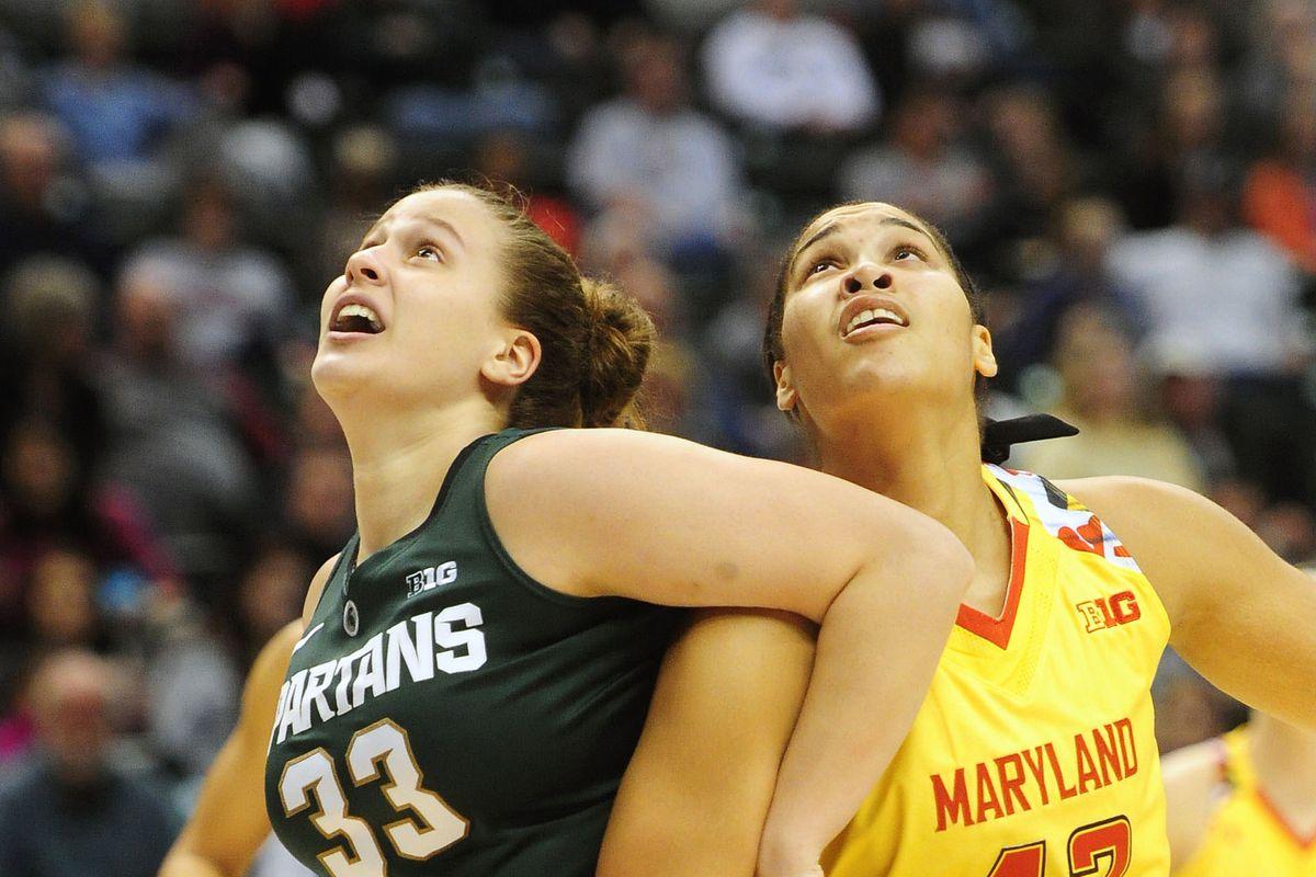 NCAA Womens Basketball: Big Ten Conference Tournament-Michigan State vs Maryland