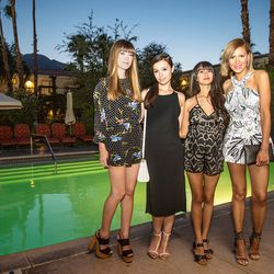 """Time for dinner! Jenny is wearing a <a href=""""http://www.harlynlabel.com/""""target=""""_blank"""">Harlyn</a> romper, Marta is wearing a <a href=""""http://www.rag-bone.com/""""target=""""_blank"""">Rag & Bone</a> dress, and both Natalie and Taye are wearing <a href=""""http://ke"""