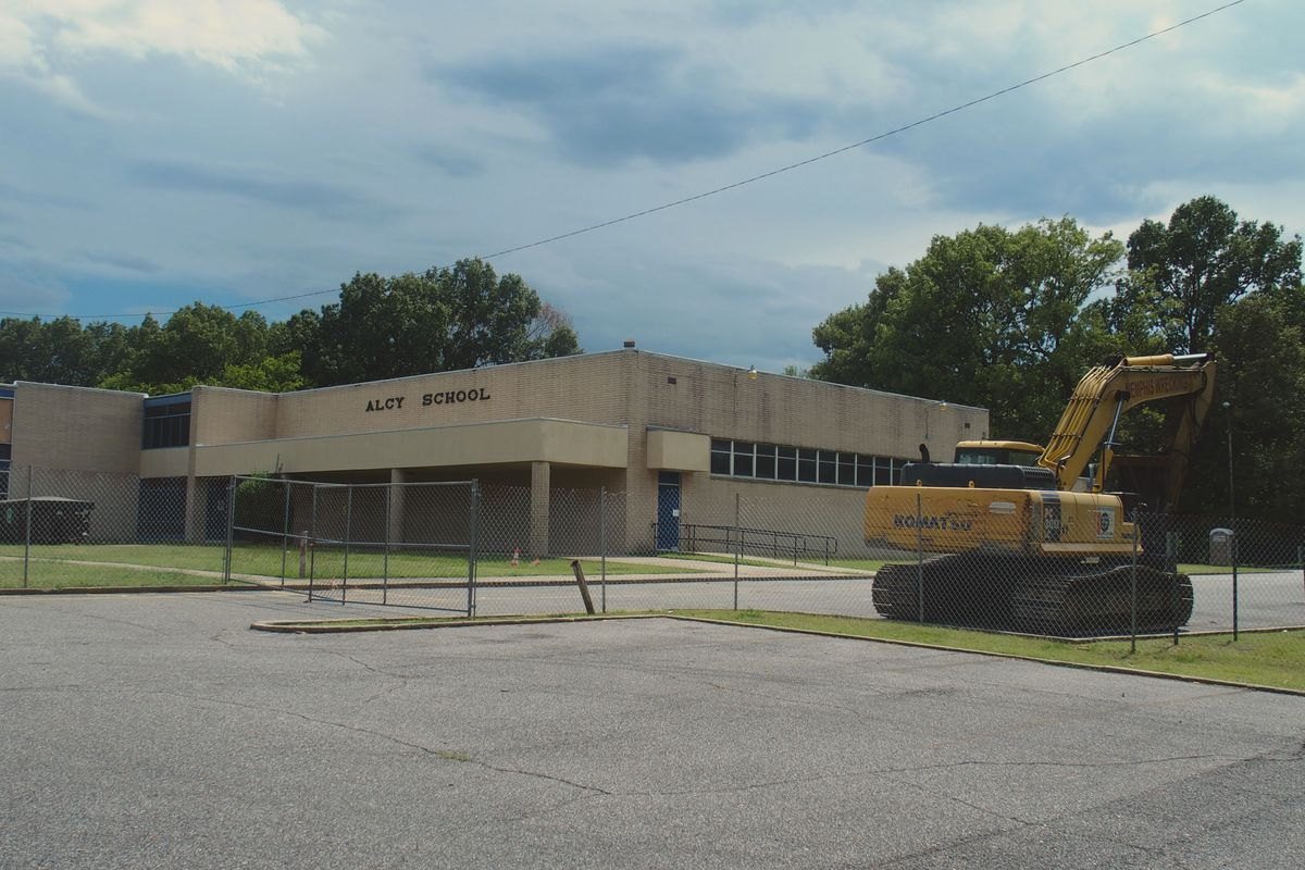 Alcy Elementary Schools is being demolished this summer to make way for a new building on the same property that will also house students from Charjean and Magnolia elementary schools.