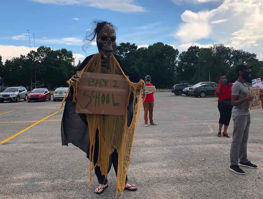 Memphis Shelby County Schools coronavirus protest rally July 21, 2020