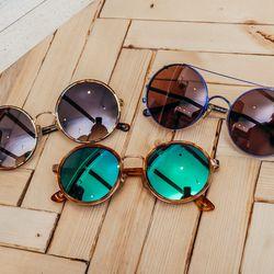 <b>Sunday Somewhere</b> round sunglasses, $210 to $240