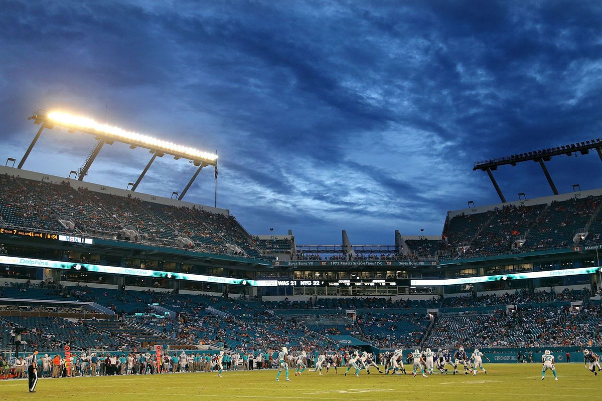 SunLife Stadium will be the setting for Monday night's Giants-Dolphins game