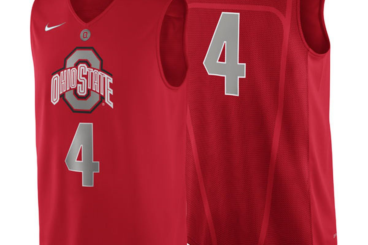Ohio State, modeling the Big Lots collection.