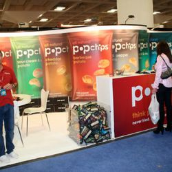 Pop Chips took up four-booths-worth of major show real estate.
