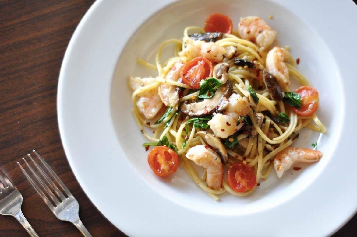 Seafood linguini from Andiamo