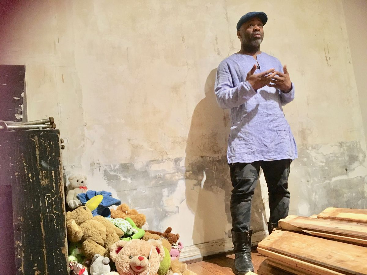 Artist Theaster Gates tells how the South Side Arts Bank became repository for the gazebo outside the Cudell Recreation Center in Cleveland, where 12-year-old Tamir Rice, playing with a pellet gun, was shot and killed by Cleveland police officer Timothy L