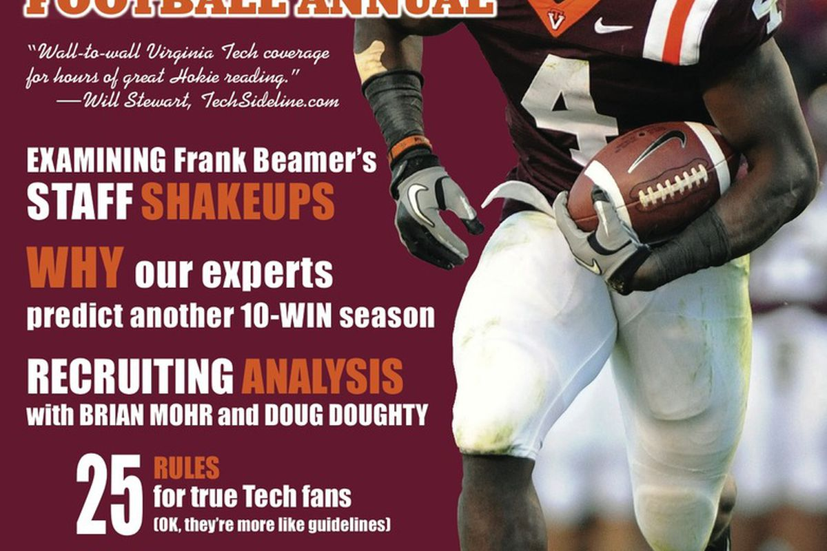 Look for the 2011 Hokie Football Annual wherever fine publications are sold.