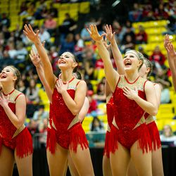 Panguitch High School's drill team performs during the 2A state drill team finals at the UCCU Center at Utah Valley University in Orem on Friday, Jan. 31, 2020.