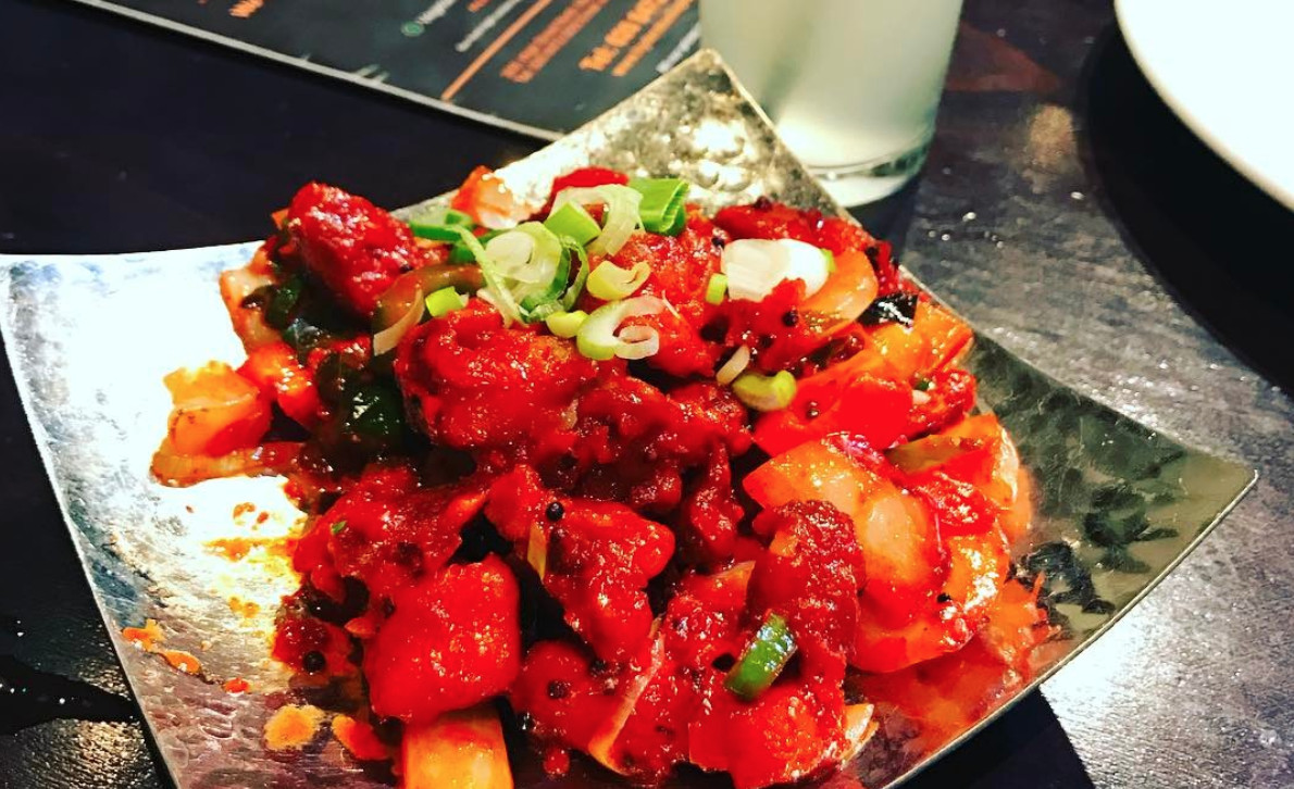 East Ham's best restaurants include Hyderabadi Spice, which serves this sweet red chicken