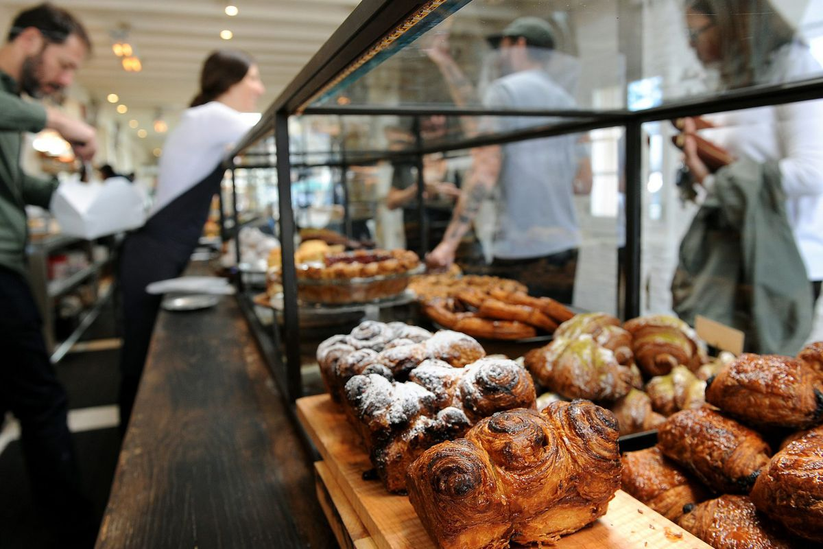 The pastry case at Gjusta in Venice
