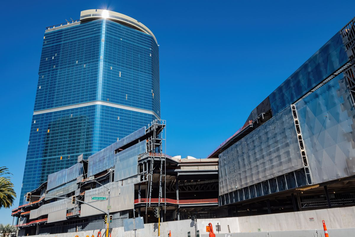 A half-finished casino on the Las Vegas Strip