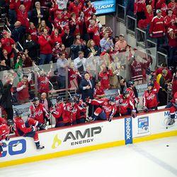 Capitals Bench Celebrates Series Win