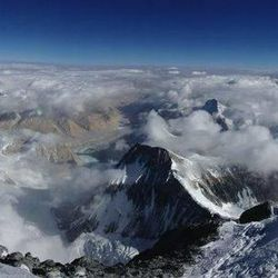 A panorama view from the top of Mount Everest on May 19.