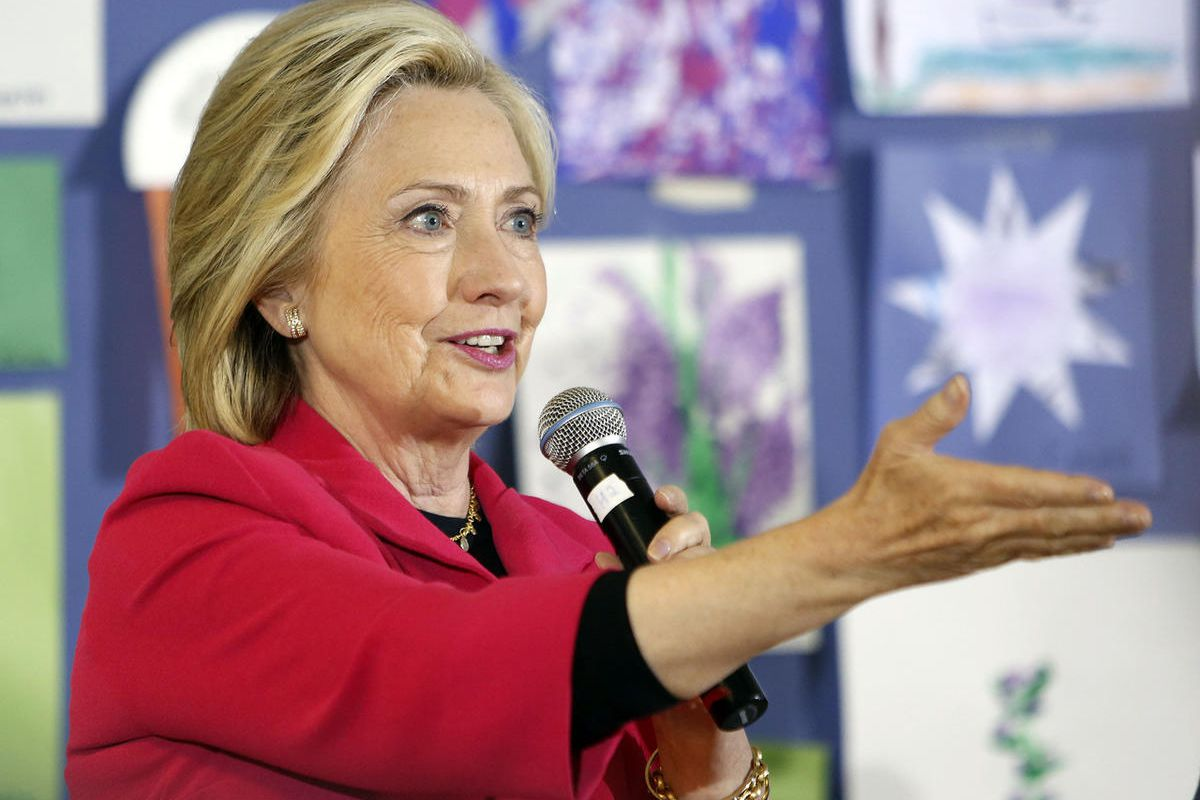 Democratic presidential candidate Hillary Rodham Clinton speaks to a group at the YMCA during a campaign stop, Monday, June 15, 2015, in Rochester, N.H.