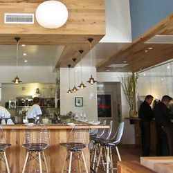 12 seats at the bar overlook the open kitchen<br />(c) Jennifer Yin / Eater SF