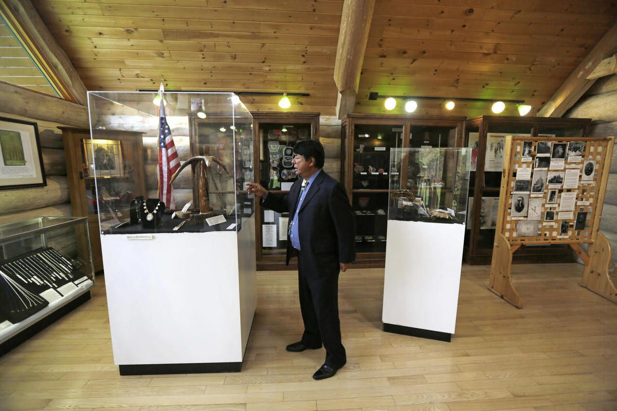 In this Friday, Oct. 25, 2013 photo, Oneida Indian Nation Representative Ray Halbritter gives a tour at an Oneida Indian cultural center, in Oneida, N.Y.