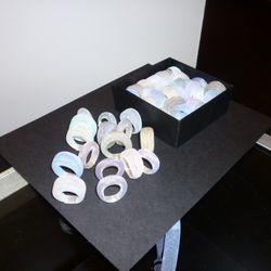 Finally - cute and cheap!  Jahyun Rita Baek's nylon mesh rings.