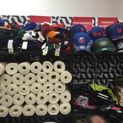 Miscellaneous accessories include sport hats and beanies and yoga mats